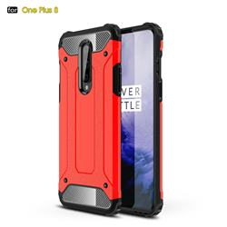 King Kong Armor Premium Shockproof Dual Layer Rugged Hard Cover for OnePlus 8 - Big Red