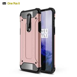 King Kong Armor Premium Shockproof Dual Layer Rugged Hard Cover for OnePlus 8 - Rose Gold