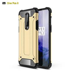 King Kong Armor Premium Shockproof Dual Layer Rugged Hard Cover for OnePlus 8 - Champagne Gold
