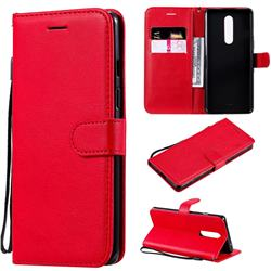 Retro Greek Classic Smooth PU Leather Wallet Phone Case for OnePlus 8 - Red