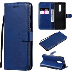 Retro Greek Classic Smooth PU Leather Wallet Phone Case for OnePlus 8 - Blue
