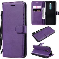Retro Greek Classic Smooth PU Leather Wallet Phone Case for OnePlus 8 - Purple