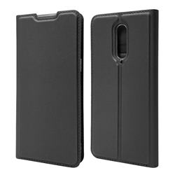 Ultra Slim Card Magnetic Automatic Suction Leather Wallet Case for OnePlus 8 - Star Grey