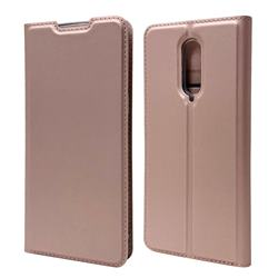 Ultra Slim Card Magnetic Automatic Suction Leather Wallet Case for OnePlus 8 - Rose Gold