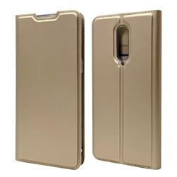 Ultra Slim Card Magnetic Automatic Suction Leather Wallet Case for OnePlus 8 - Champagne