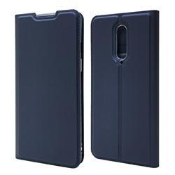 Ultra Slim Card Magnetic Automatic Suction Leather Wallet Case for OnePlus 8 - Royal Blue