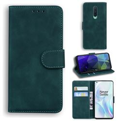 Retro Classic Skin Feel Leather Wallet Phone Case for OnePlus 8 - Green