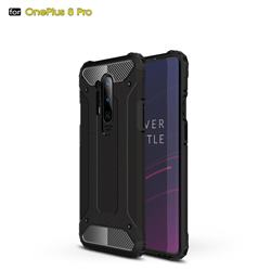King Kong Armor Premium Shockproof Dual Layer Rugged Hard Cover for OnePlus 8 Pro - Black Gold