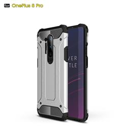 King Kong Armor Premium Shockproof Dual Layer Rugged Hard Cover for OnePlus 8 Pro - White