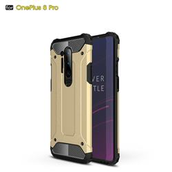King Kong Armor Premium Shockproof Dual Layer Rugged Hard Cover for OnePlus 8 Pro - Champagne Gold