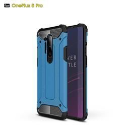 King Kong Armor Premium Shockproof Dual Layer Rugged Hard Cover for OnePlus 8 Pro - Sky Blue