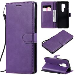 Retro Greek Classic Smooth PU Leather Wallet Phone Case for OnePlus 8 Pro - Purple