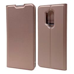 Ultra Slim Card Magnetic Automatic Suction Leather Wallet Case for OnePlus 8 Pro - Rose Gold