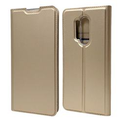 Ultra Slim Card Magnetic Automatic Suction Leather Wallet Case for OnePlus 8 Pro - Champagne