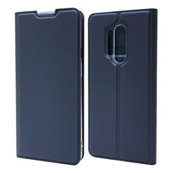 Ultra Slim Card Magnetic Automatic Suction Leather Wallet Case for OnePlus 8 Pro - Royal Blue