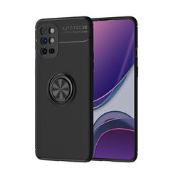 Auto Focus Invisible Ring Holder Soft Phone Case for OnePlus 8T - Black