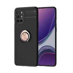 Auto Focus Invisible Ring Holder Soft Phone Case for OnePlus 8T - Black Gold