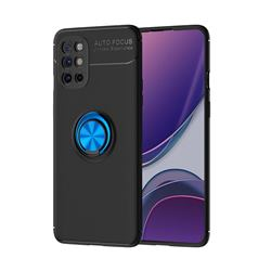 Auto Focus Invisible Ring Holder Soft Phone Case for OnePlus 8T - Black Blue