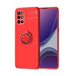 Auto Focus Invisible Ring Holder Soft Phone Case for OnePlus 8T - Red
