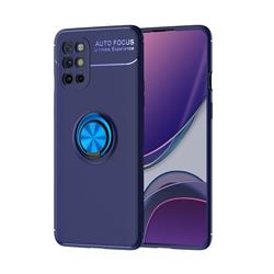 Auto Focus Invisible Ring Holder Soft Phone Case for OnePlus 8T - Blue
