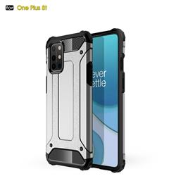 King Kong Armor Premium Shockproof Dual Layer Rugged Hard Cover for OnePlus 8T - White