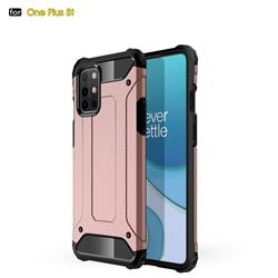 King Kong Armor Premium Shockproof Dual Layer Rugged Hard Cover for OnePlus 8T - Rose Gold