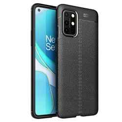 Luxury Auto Focus Litchi Texture Silicone TPU Back Cover for OnePlus 8T - Black
