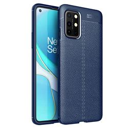 Luxury Auto Focus Litchi Texture Silicone TPU Back Cover for OnePlus 8T - Dark Blue