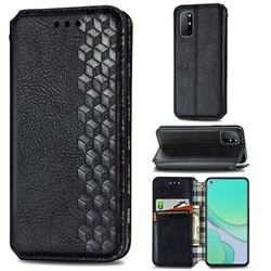 Ultra Slim Fashion Business Card Magnetic Automatic Suction Leather Flip Cover for OnePlus 8T - Black