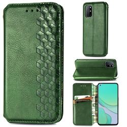 Ultra Slim Fashion Business Card Magnetic Automatic Suction Leather Flip Cover for OnePlus 8T - Green
