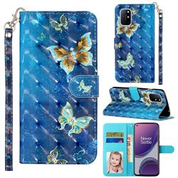 Rankine Butterfly 3D Leather Phone Holster Wallet Case for OnePlus 8T