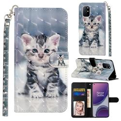 Kitten Cat 3D Leather Phone Holster Wallet Case for OnePlus 8T