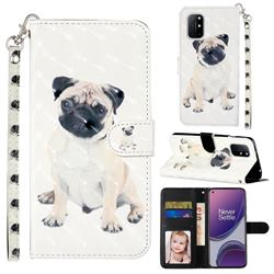 Pug Dog 3D Leather Phone Holster Wallet Case for OnePlus 8T