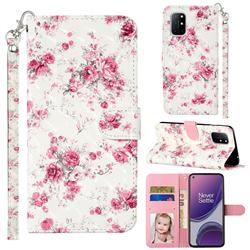 Rambler Rose Flower 3D Leather Phone Holster Wallet Case for OnePlus 8T