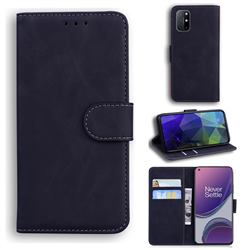 Retro Classic Skin Feel Leather Wallet Phone Case for OnePlus 8T - Black