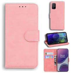 Retro Classic Skin Feel Leather Wallet Phone Case for OnePlus 8T - Pink