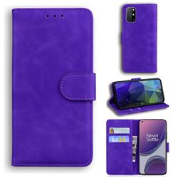 Retro Classic Skin Feel Leather Wallet Phone Case for OnePlus 8T - Purple