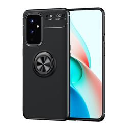 Auto Focus Invisible Ring Holder Soft Phone Case for OnePlus 9 - Black