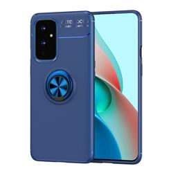 Auto Focus Invisible Ring Holder Soft Phone Case for OnePlus 9 - Blue