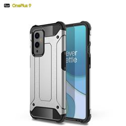 King Kong Armor Premium Shockproof Dual Layer Rugged Hard Cover for OnePlus 9 - White