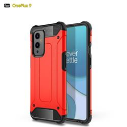 King Kong Armor Premium Shockproof Dual Layer Rugged Hard Cover for OnePlus 9 - Big Red