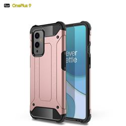 King Kong Armor Premium Shockproof Dual Layer Rugged Hard Cover for OnePlus 9 - Rose Gold