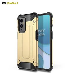 King Kong Armor Premium Shockproof Dual Layer Rugged Hard Cover for OnePlus 9 - Champagne Gold