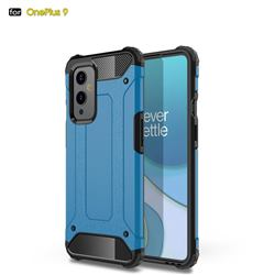 King Kong Armor Premium Shockproof Dual Layer Rugged Hard Cover for OnePlus 9 - Sky Blue