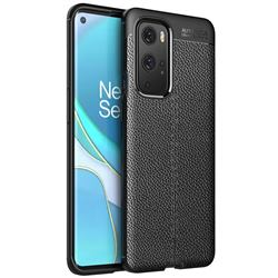 Luxury Auto Focus Litchi Texture Silicone TPU Back Cover for OnePlus 9 Pro - Black