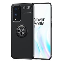 Auto Focus Invisible Ring Holder Soft Phone Case for OnePlus 9 Pro - Black
