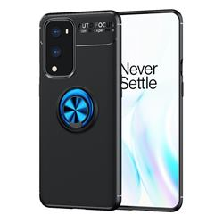 Auto Focus Invisible Ring Holder Soft Phone Case for OnePlus 9 Pro - Black Blue