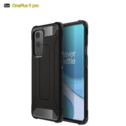 King Kong Armor Premium Shockproof Dual Layer Rugged Hard Cover for OnePlus 9 Pro - Black Gold
