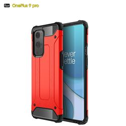 King Kong Armor Premium Shockproof Dual Layer Rugged Hard Cover for OnePlus 9 Pro - Big Red