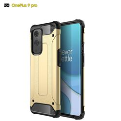 King Kong Armor Premium Shockproof Dual Layer Rugged Hard Cover for OnePlus 9 Pro - Champagne Gold